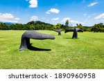 Blue Whale Sculptures In...