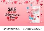 happy valentines day. big sale...   Shutterstock .eps vector #1890973222