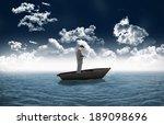 composite image of standing... | Shutterstock . vector #189098696