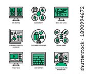 ux ui design icons set filled... | Shutterstock .eps vector #1890994672