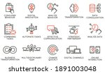 vector set of linear icons... | Shutterstock .eps vector #1891003048