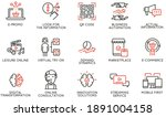 vector set of linear icons... | Shutterstock .eps vector #1891004158