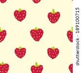 hand drawn strawberry seamless...   Shutterstock .eps vector #189100715