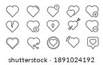 set of heart line icons. simple ...