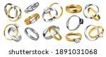 wedding rings. realistic... | Shutterstock .eps vector #1891031068