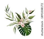 floral illustration. bouquet of ... | Shutterstock . vector #1891038172