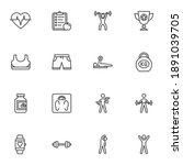 sport and fitness line icons... | Shutterstock .eps vector #1891039705