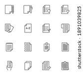lists line icons set  outline... | Shutterstock .eps vector #1891039825