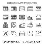 orthopedic mattress  bold line... | Shutterstock .eps vector #1891045735