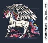 the unicorn has wings vector   Shutterstock .eps vector #1891063795