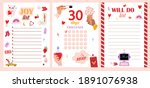 collection of weekly or daily... | Shutterstock .eps vector #1891076938
