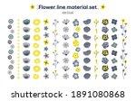 hand drawn flower line material ... | Shutterstock .eps vector #1891080868