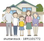 five members of a three...   Shutterstock .eps vector #1891101772