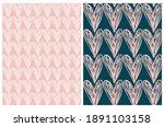 lovely seamless vector patterns ... | Shutterstock .eps vector #1891103158