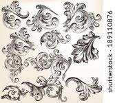 vector set of calligraphic... | Shutterstock .eps vector #189110876