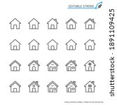 home line icons. editable...   Shutterstock .eps vector #1891109425