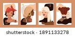 abstract female portraits....   Shutterstock .eps vector #1891133278