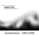 vector half tone dots wave with ... | Shutterstock .eps vector #18911398