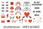 Set Of Hand Drawn Valentine S...