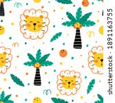 cute childish seamless pattern... | Shutterstock .eps vector #1891163755