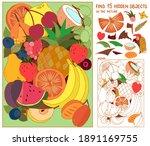 fruit puzzle hidden items for... | Shutterstock .eps vector #1891169755