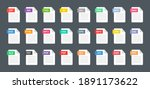 file type icons. format and... | Shutterstock .eps vector #1891173622