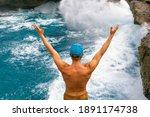 Powerful Sea Surf Crashing With ...