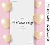valentines day greeting card...   Shutterstock .eps vector #1891178182