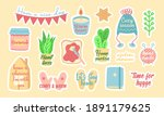 set of cute colorful vector... | Shutterstock .eps vector #1891179625