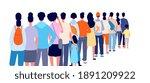 people standing in line.... | Shutterstock .eps vector #1891209922