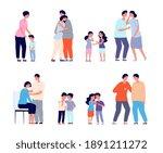 family consoled. cartoon... | Shutterstock .eps vector #1891211272