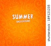 Floral Summer Pattern  Orange