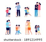people hugs together. couple... | Shutterstock .eps vector #1891214995
