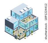 business building isometric.... | Shutterstock .eps vector #1891224412