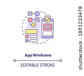 app wireframe concept icon. ui...