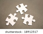 jigsaw puzzle pieces | Shutterstock . vector #18912517
