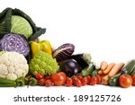 fruits and vegetables isolated... | Shutterstock . vector #189125726