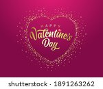 happy valentines day typography ... | Shutterstock .eps vector #1891263262
