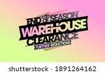 end of season warehouse...   Shutterstock . vector #1891264162