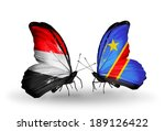 two butterflies with flags on... | Shutterstock . vector #189126422