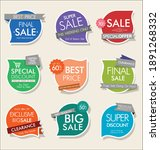 modern sale stickers and tags...   Shutterstock . vector #1891268332