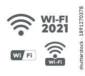 wireless and wifi icons.... | Shutterstock .eps vector #1891270378