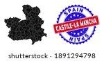 Castile La Mancha Province Map...