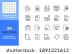 line icons about documents.... | Shutterstock .eps vector #1891321612