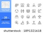 line icons about business... | Shutterstock .eps vector #1891321618