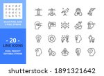 line icons about vision and...   Shutterstock .eps vector #1891321642