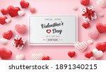 happy valentine's day sale... | Shutterstock .eps vector #1891340215