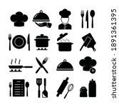 cooking related icon set.... | Shutterstock .eps vector #1891361395
