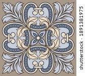 portuguese azulejo ceramic tile ... | Shutterstock .eps vector #1891381975