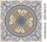 portuguese azulejo ceramic tile ... | Shutterstock .eps vector #1891382125